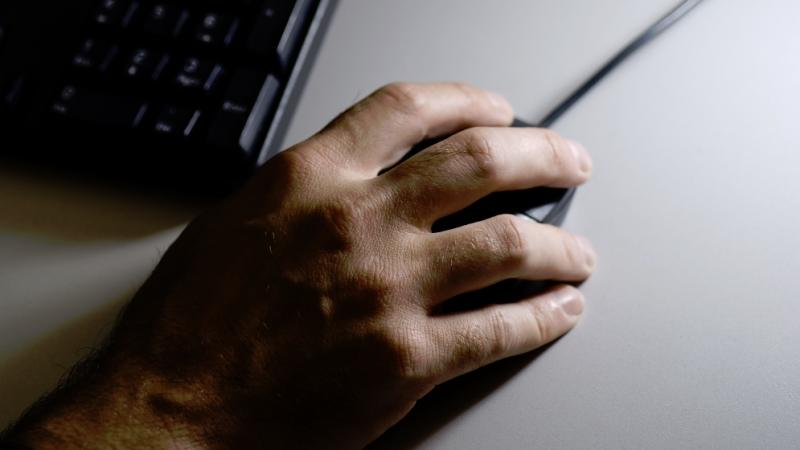 A person using a computer