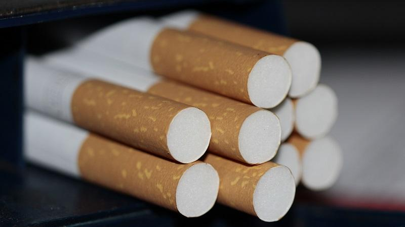 An image of cigarettes protruding from a pack
