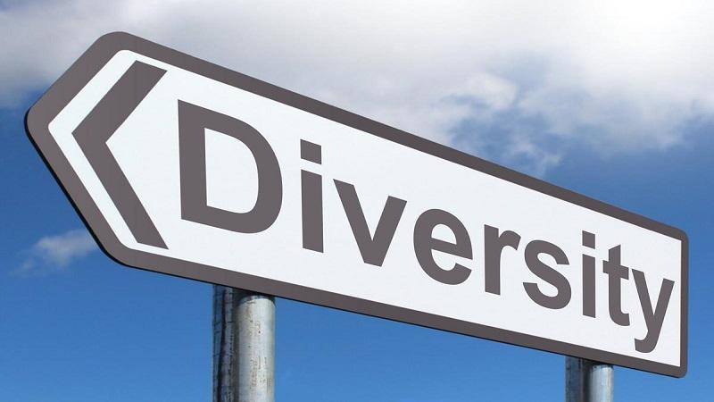 Image of a road sign pointing the way towards diversity