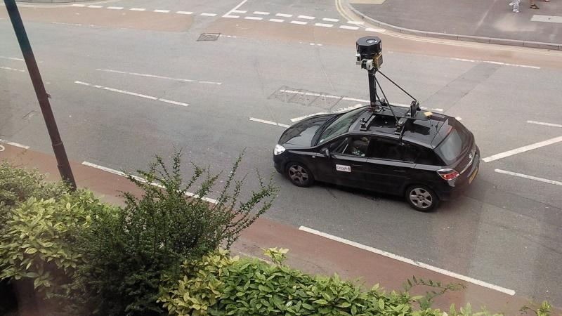 An image of a Google Streetview car driving through Bristol