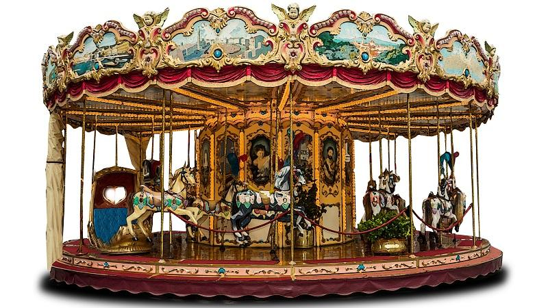An image of a merry go round