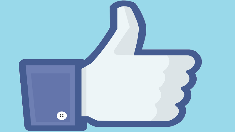 An illustration of a Facebookesque thumbs up