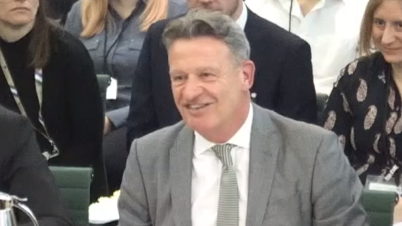 An image of GDS director general Kevin Cunnington gives evidence to the Commons Science and Technology Committee