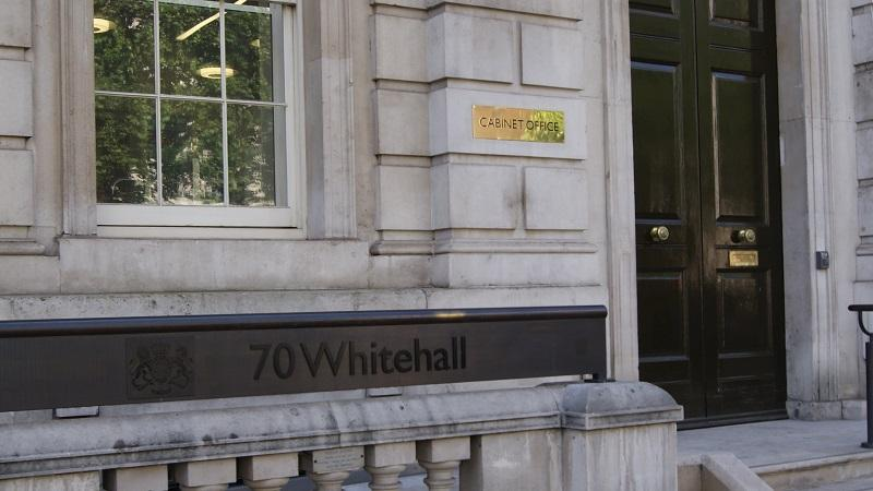 An image of the exterior of the Cabinet Office's headquarters in London's Whitehall