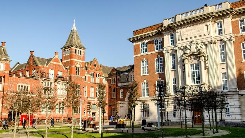 An image of the quadrangle at Liverpool University
