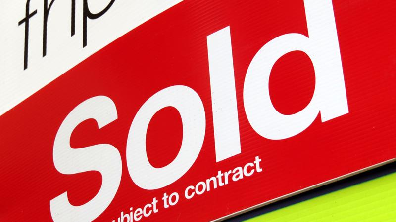 Sold sign - estate agent