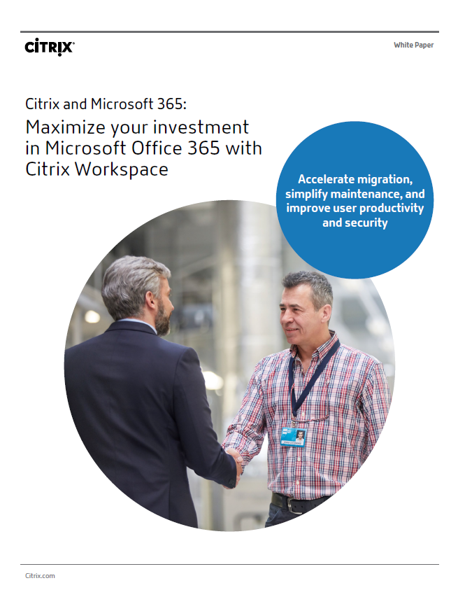 Citrix white paper - Office365 cover