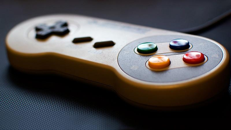 A close-up image of a controller for a Super Nintendo games console
