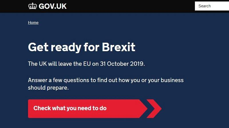 A screengrab from the Brexit.gov.uk
