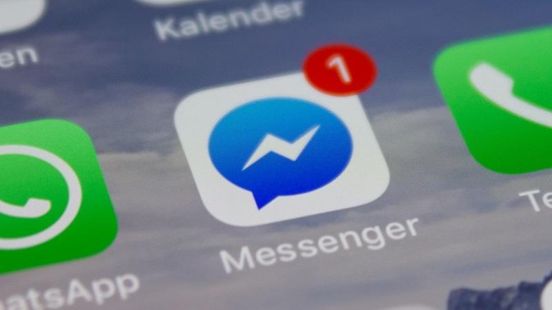 An image of the Facebook messenger app in smartphone