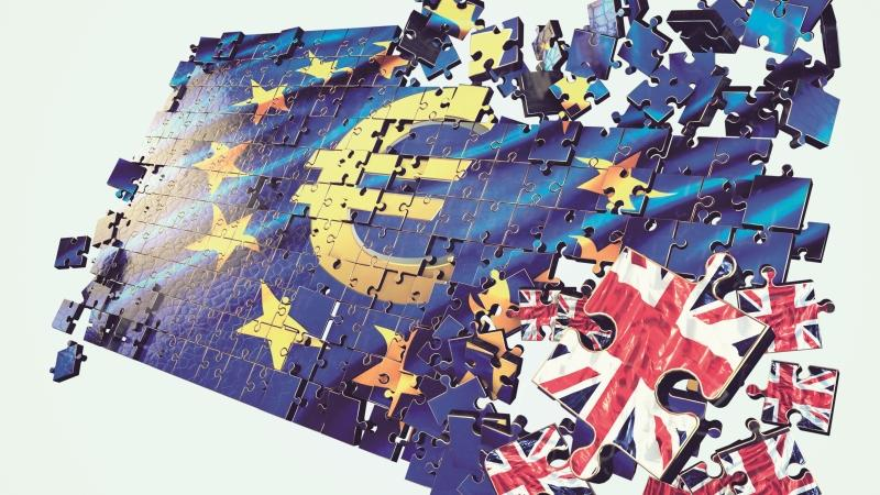 A euro jigsaw with UK pieces