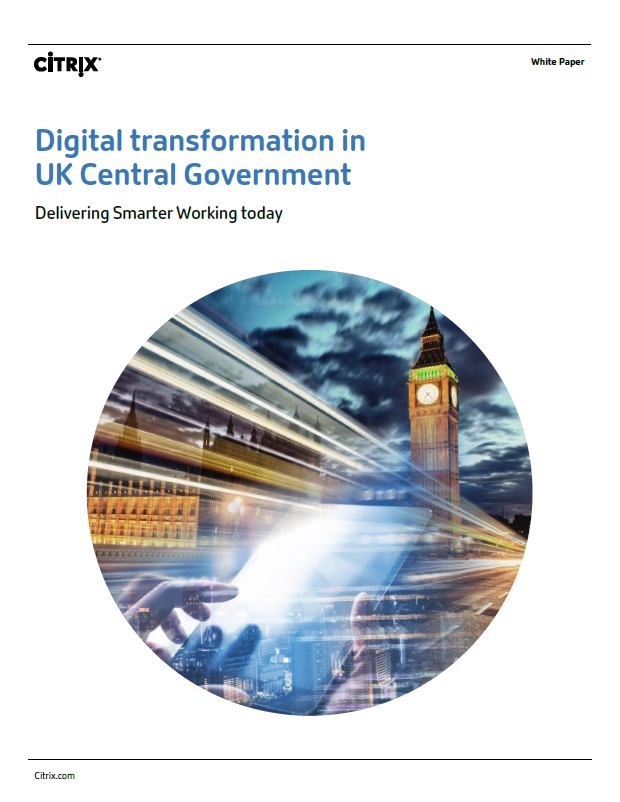 A picture of the Digital Transformation in UK Central Government whitepaper