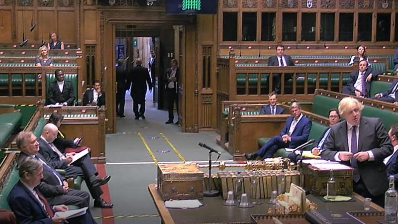 An image of Boris Johnson speaking during prime minister's questions on 24 June