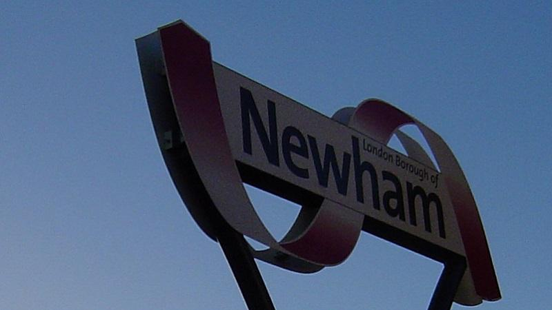 An image of a sign in the London borough of Newham