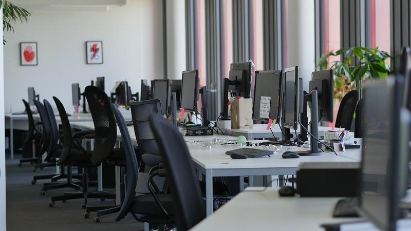 An image of an empty office