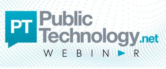 An image of the PublicTechnology Webinar logo