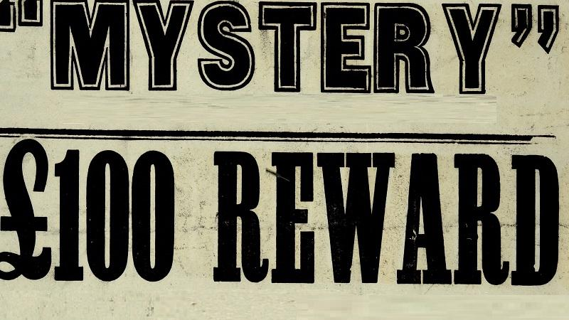 An image of a section of an old reward posted