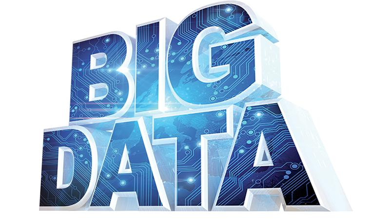 Image of letters spelling BIG DATA