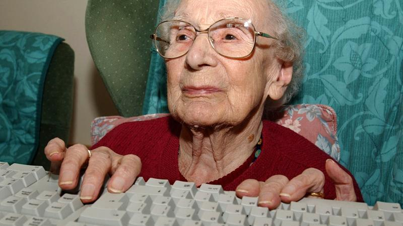 Elderly computer user
