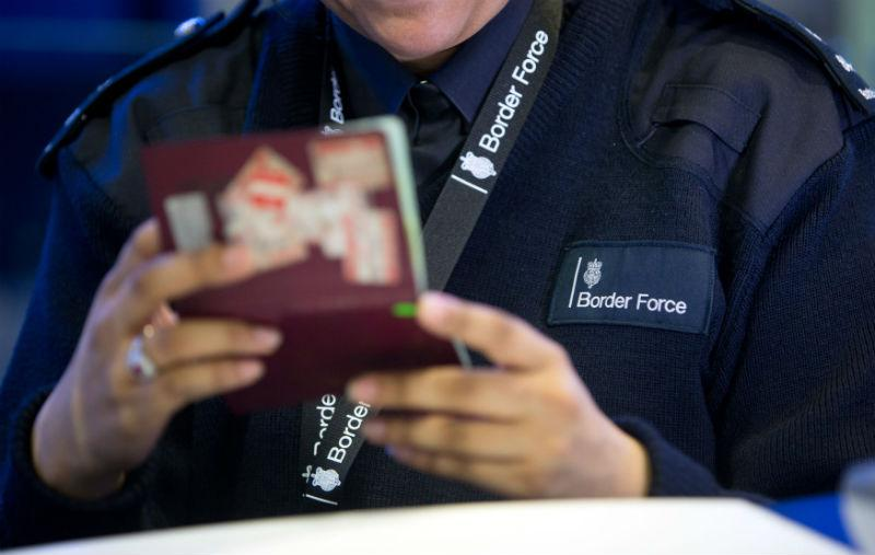 UK Border Force passport check