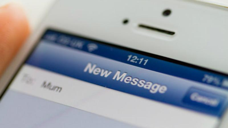 SMS text from Mobile phone