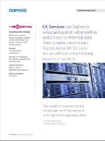 A picture of the cover of Sophos Case Study of EK Services