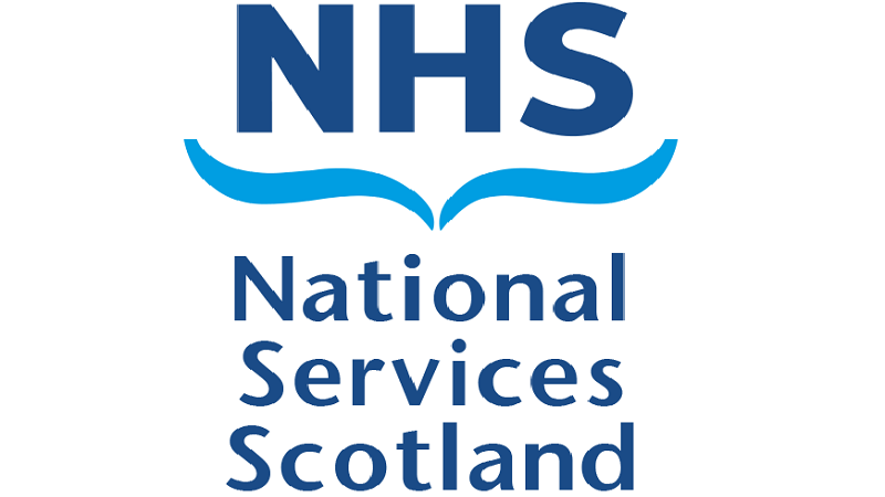 An image of the  NHS National Services Scotland logo