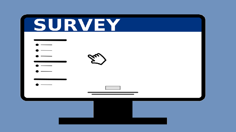 An illustration of a webpage of an online survey