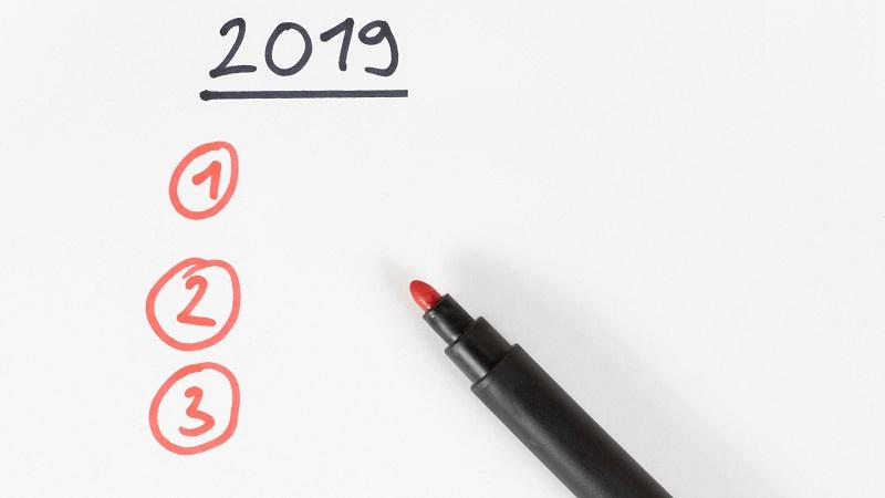 Image of a list headed '2019' with three options beneath