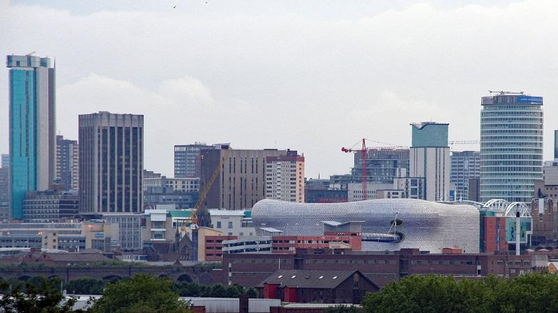 An image of the skyline of the city of Birmingham