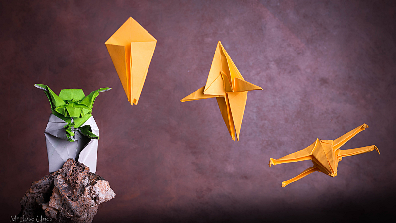 Yoda origami concept - Star Wars image