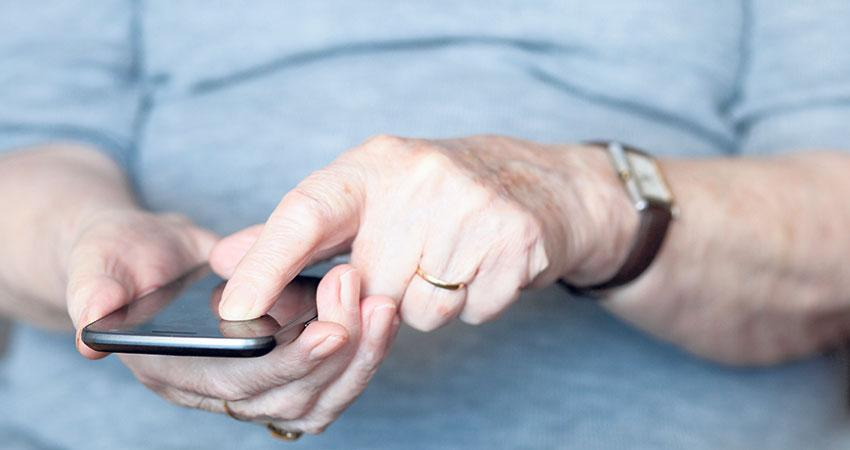Image of person using a smart phone